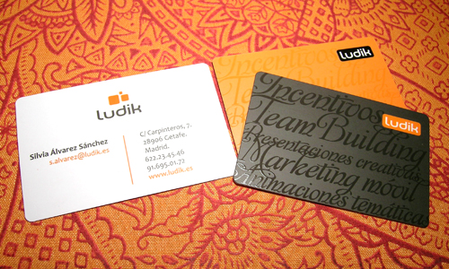 Ludik's Textured Business Card