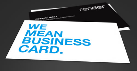 Post image for Render's Minimalist Business Card