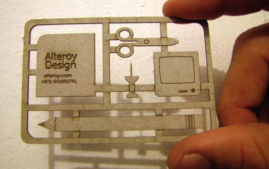 Alteroy Design's Die Cut Business Card