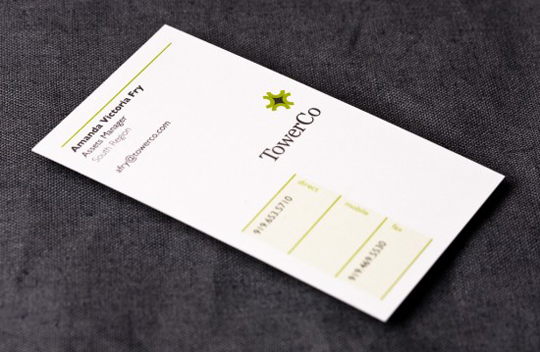Tower Company's Simple Business Card