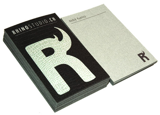 Rhino Studio.ch's Textured Business Card
