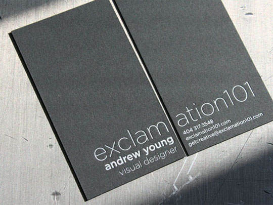 Post image for Exclamation 101's Minimalist Business Card
