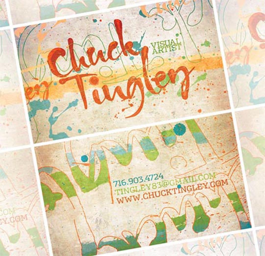 Chuck Tingley's Designer Business Card