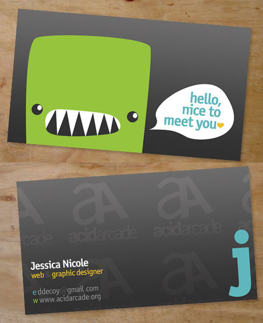 Acid Arcade's Graphic Design Business Card