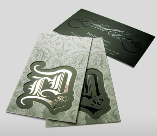 Philip Wolff's Die Cut Business Card