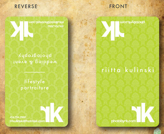 Rita Kulinski's Photography Business Card