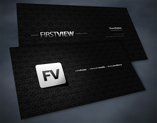 First View Media's Advertising Business Card