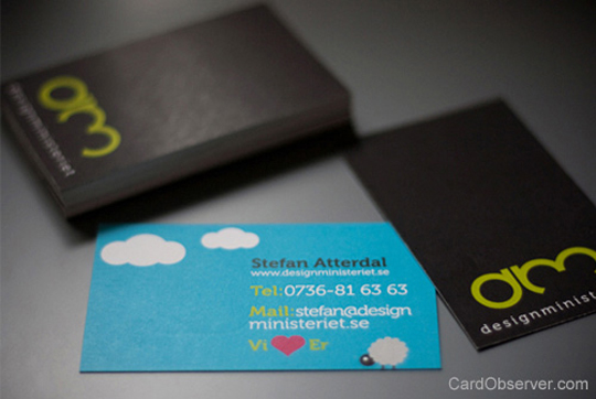 Designministeriet's Double-Sided Business Card