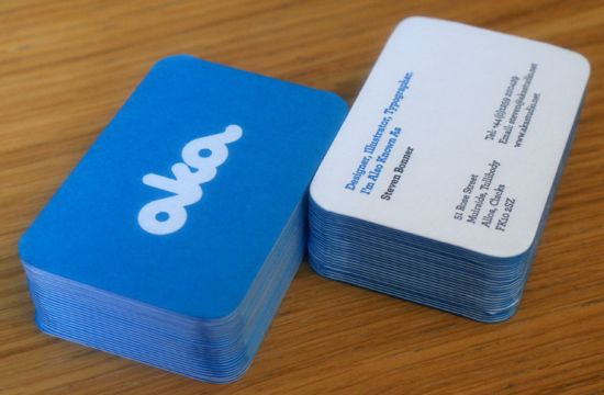 Aka's Simple Blue Business Card