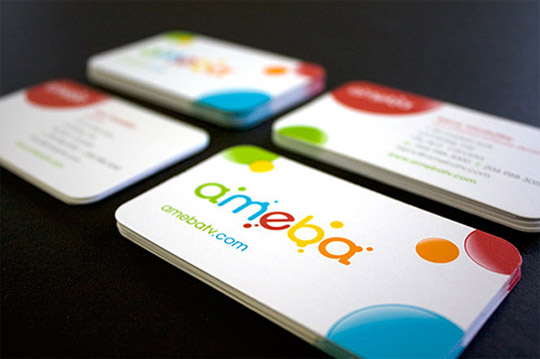 Ameba TV's Die-Cut Business Card