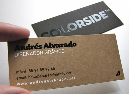 Andres Alvarado's Graphic Designer Business Card