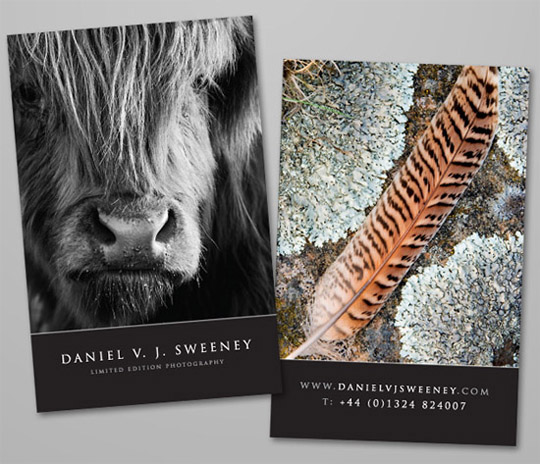 Daniel Sweeney's Photography Business Card