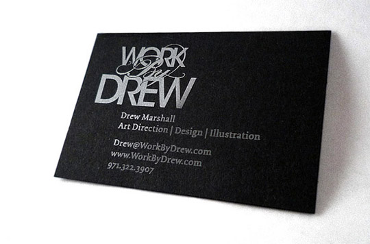 Post image for Drew Marshall's Simple Business Card