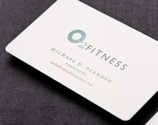 O2 Fitness' Simple Business Card