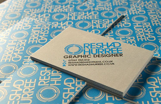 Reshad Huree's Graphic Design Business Card