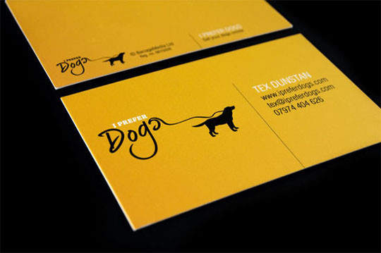 I prefer dogs.com's Die Cut Business Card