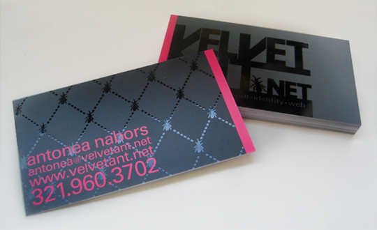 Velvet Ant.net's Cool Business Card