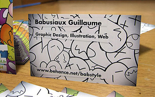 Post image for Babusiaux Guillaume's Graphic Design Business Card