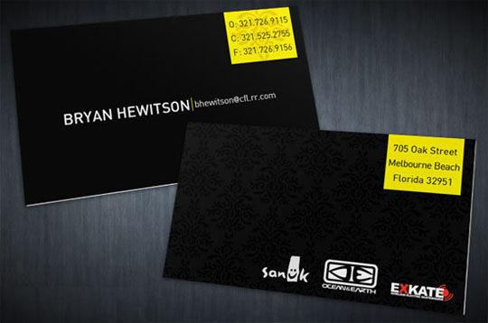 Bryan Hewitson's Cool Business Card