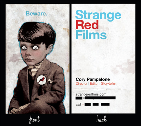 Strange Red Films Cool Business Card