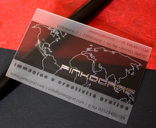 Pinkograf's Plastic Business Card