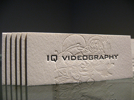 IQ Videography's Textured Business Card
