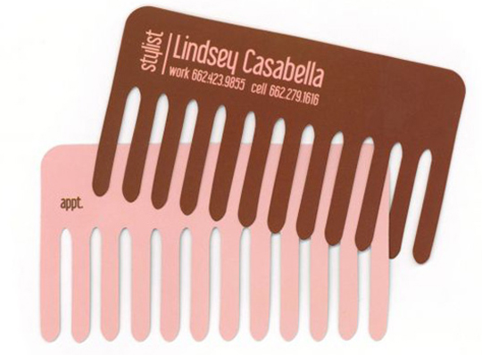 Lindsay Casabella's Die Cut Business Card