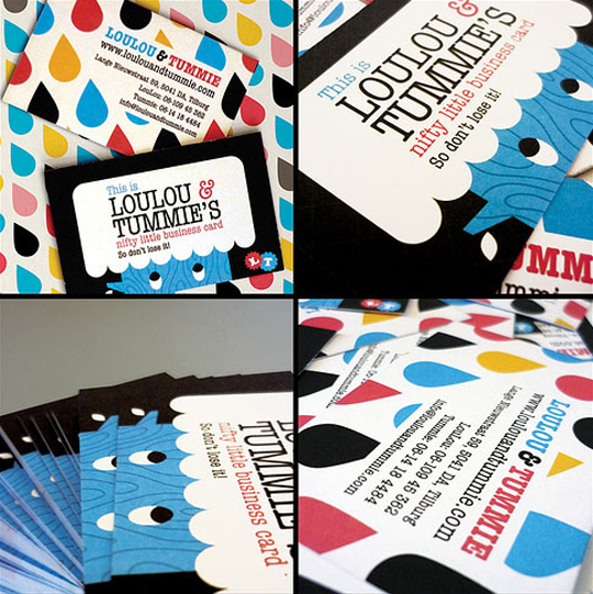 Lou Lou and Tummie's Designer Business Card