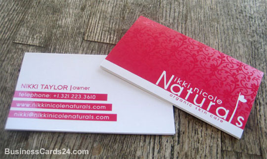 Nikki Nicole's Textured Business Card