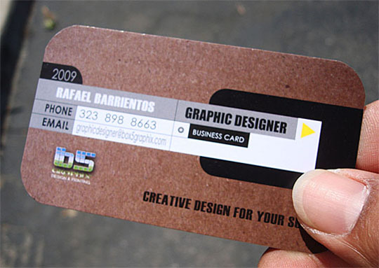 Box 5 Graphix' Graphic Designer Business Card