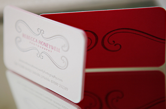 Rebecca Honeywell's Photography Business Card