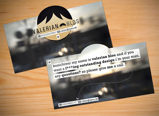 Post image for Valerian Blos Die-Cut Business Card