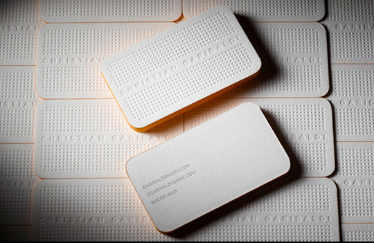 Christian Garibaldi's Photography Business Card