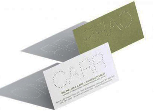 Melissa Carr's Textured Business Card