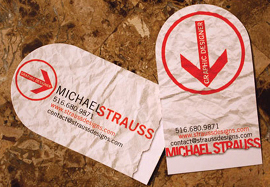 Michael Strauss' Graphic Design Business Card