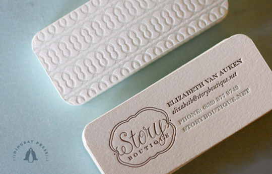 Story Botique's High-Quality Business Card