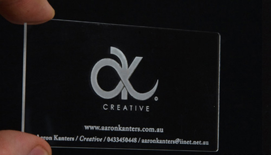 Aaron Kanter's Plastic Business Card
