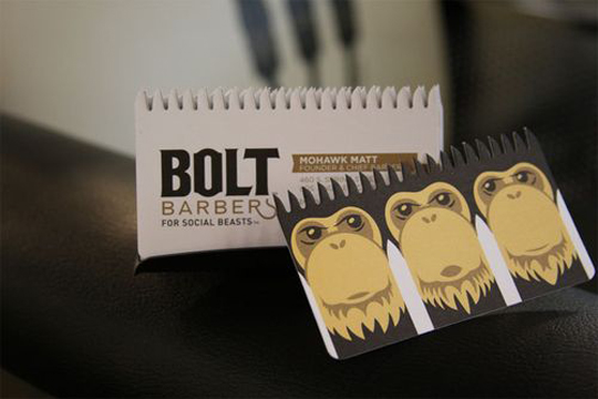 Bolt Barber's Creative Business Card