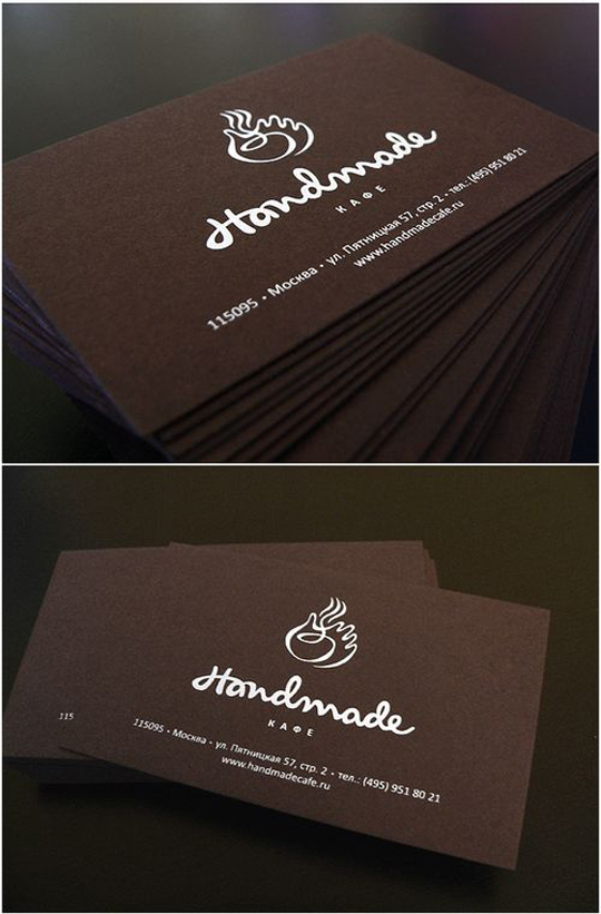 Handmade Cafe's Minimalist Business Card