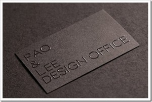 Pao and Lee Design Office 300x202 Best of Business Card 2010