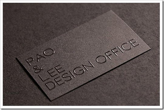 Pao And Lee Design Office's Minimalist Business Card