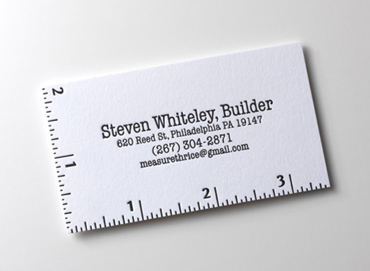 Steven Whitely Construction Business Card