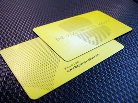 Big Love Creative Agency's Cool Business Card