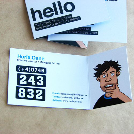 Brohouse's Folding Business Card