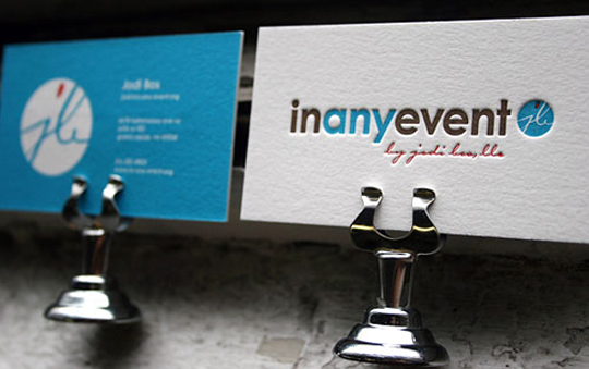 Post image for In Any Event&#8217;s Letter-pressed Business Card