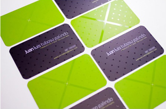 Juan Luis Toboso Galindo's Textured Business Card
