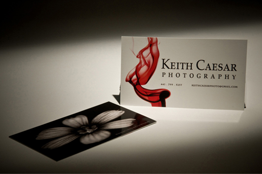 Keith Caesar's Photography Business Card