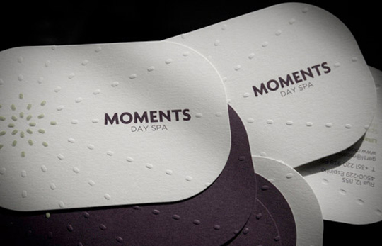 Moments Day Spa's Minimalist Business Card