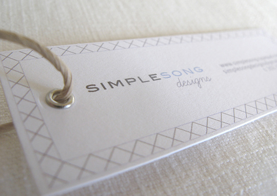 Simple Song Designs Creative Business Card