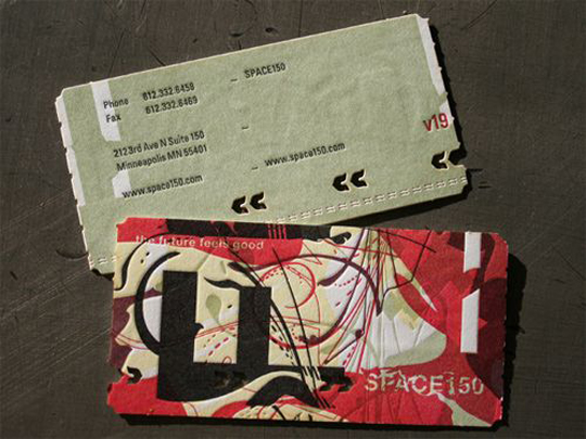 Space 150's v19 LetterPress Business Card